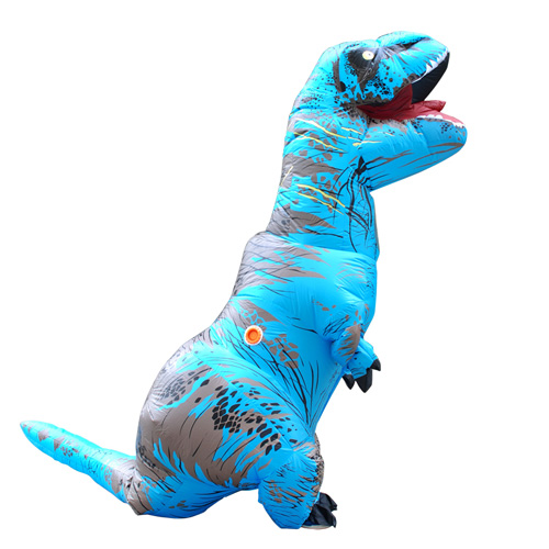 DANXEN Carnival Dress Adult Blue T-REX INFLATABLE Dinosaur Costume Costume