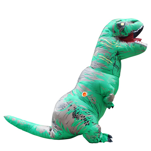 DANXEN Green INFLATABLE Dinosaur Costume Adult