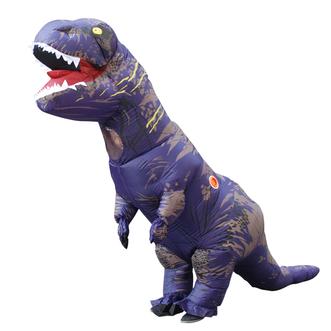 DANXEN Adult Purple Polyester T-REX INFLATABLE Dinosaur Costume Costumes