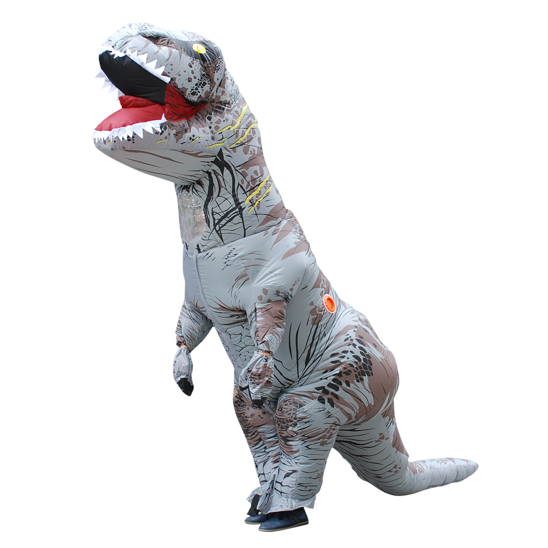 DANXEN Adult Gray Polyester T-REX INFLATABLE Dinosaur Costume Costumes