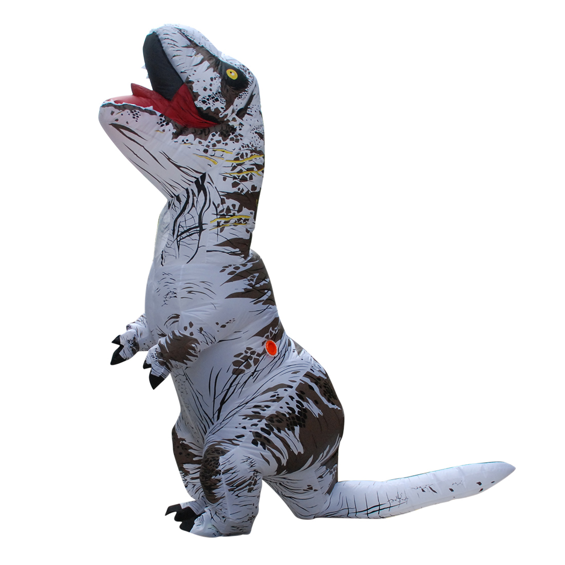 DANXEN Adult White T-REX INFLATABLE Dinosaur Costume Costumes of Men