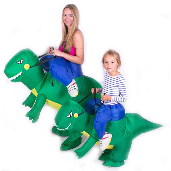 DANXEN Adult Green Inflatable Dinosaur Costume Dino Rider T-Rex