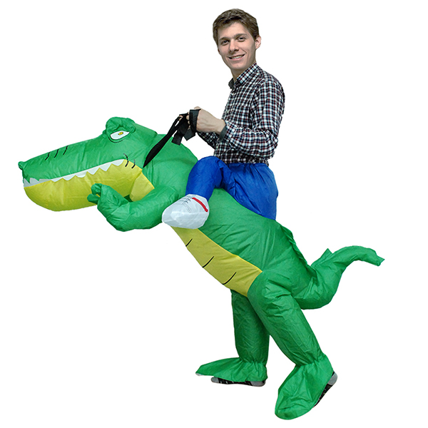 DANXEN Adult Inflatable Carry Me Crocodile Costume Outfit