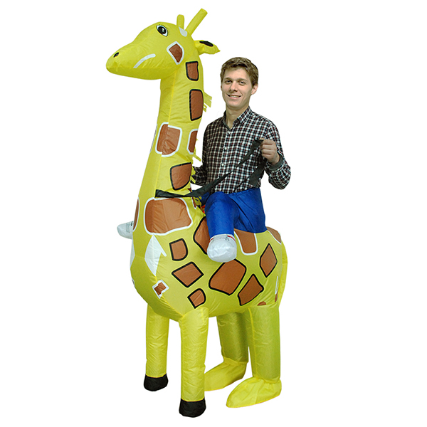 DANXEN Adult Inflatable Carry Me Giraffe Costume Outfit