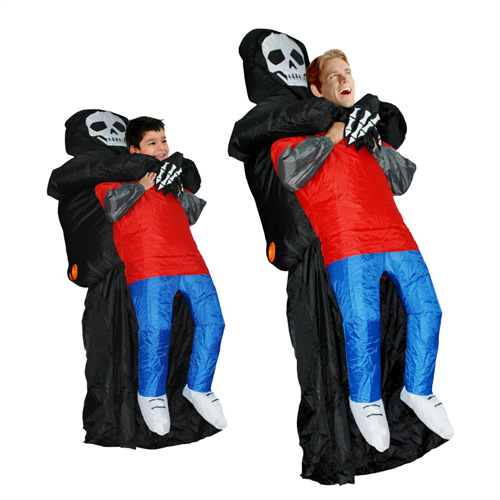 DANXEN Adult Inflatable Carry Me Skull Man Costume Blown Up Ghost