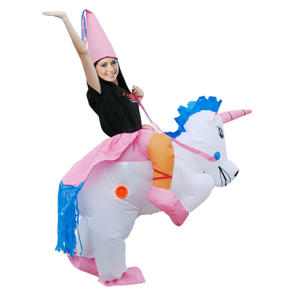 DANXEN Adult Inflatable Carry Me Unicorn Dinosaur Costume Outfit