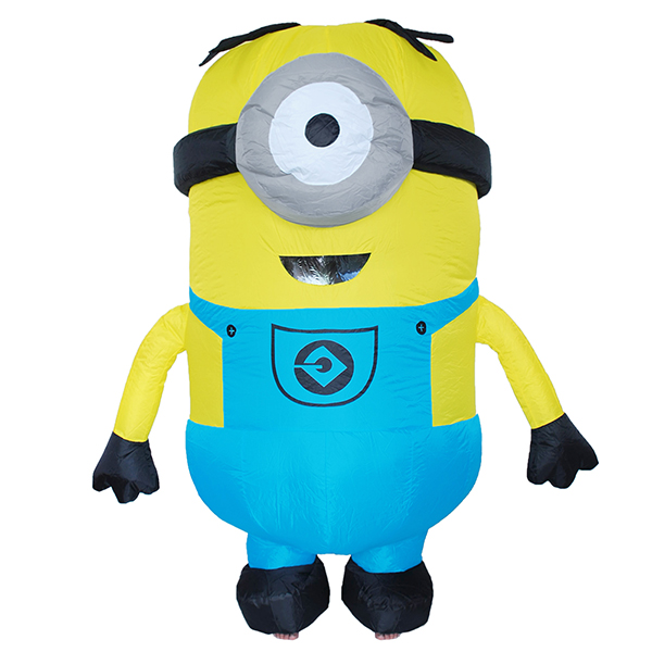 DANXEN Adult Inflatable One eyes Minion Costume