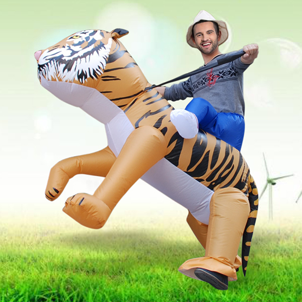 DANXEN Adult Blown Inflatable Carry Me Tiger Costume