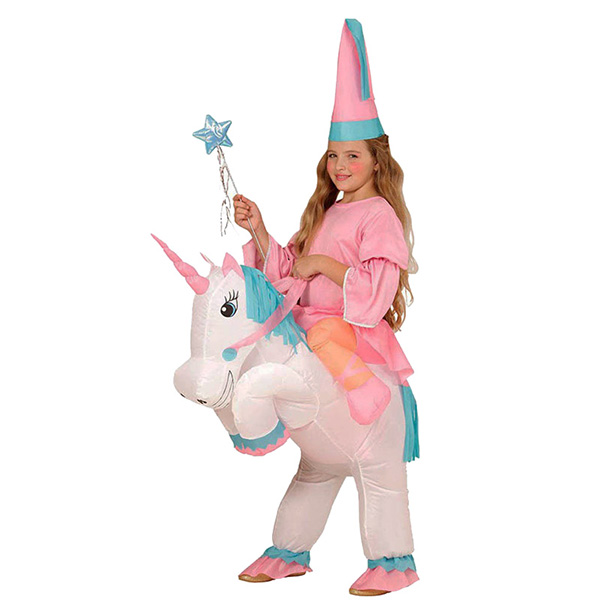 DANXEN Kids Inflatable Unicorn Costume Children