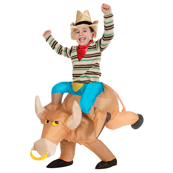 DANXEN Kids Inflatable Bull Costume Children