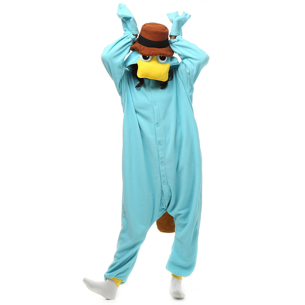 DANXEN Perry The Platypus Kigurumi Unisex Fleece Pajamas Onesie