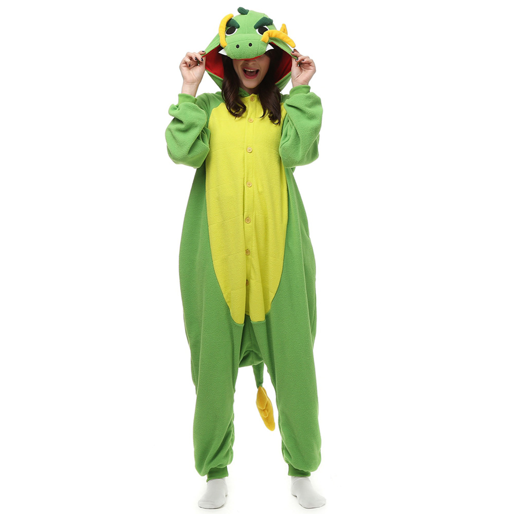 DANXEN Chinese Dragon Kigurumi Unisex Fleece Pajamas Onesie