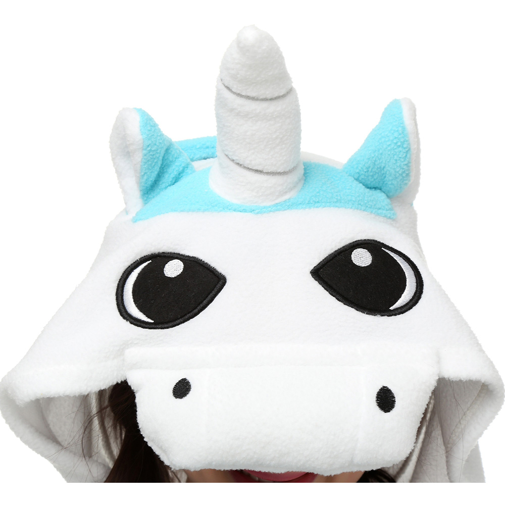 DANXEN Blue Unicorn Kigurumi Unisex Fleece Pajamas Onesie
