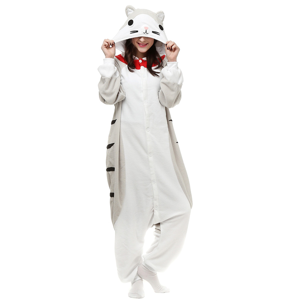 DANXEN Cheese Cat Kigurumi Unisex Fleece Pajamas Onesie
