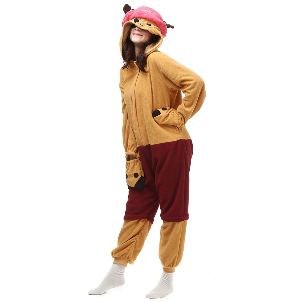 DANXEN One Piece Tony Tony Chopper Kigurumi Unisex Fleece Pajamas Onesie